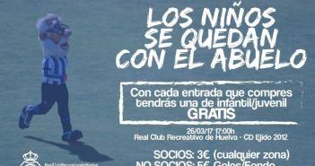 Cartel de la promoción de entradas para el Recreativo-CD El Ejido.