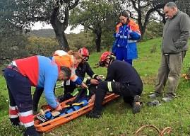 Rescatada una anciana accidentada cogiendo gurumelos