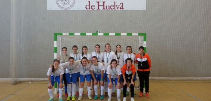 Equipo de fútbol sala femenino de la Universidad de Huelva.