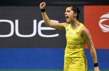 Carolina Marín, en el Campeonato de Europa.