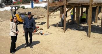 20170403 Visita obras Costas playa El Portil accesos