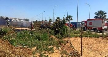 Incendio en el asentamiento de Lepe (2)