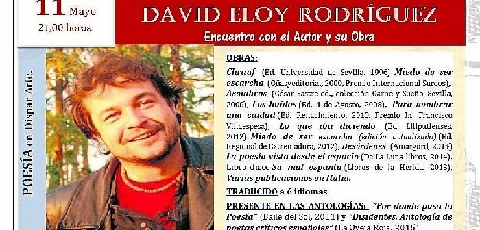 CARTEL EVENTO JUEVES 11 DE MAYO POESTA DAVID ELOY