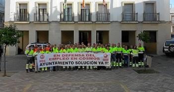 Protesta trabajadores Cementos Cosmos