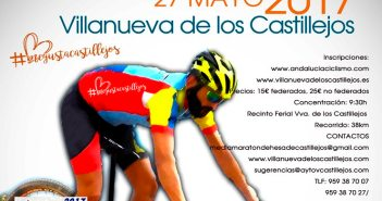Cartel de la Media Maratón de Villanueva de los Castillejos.