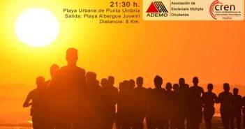 Cartel de la Carrera Solidaria Nocturna en Punta Umbría.