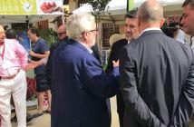 Vicente Simón, posible nuevo comprador del Recreativo con Javier Barrero, presidente del Puerto.