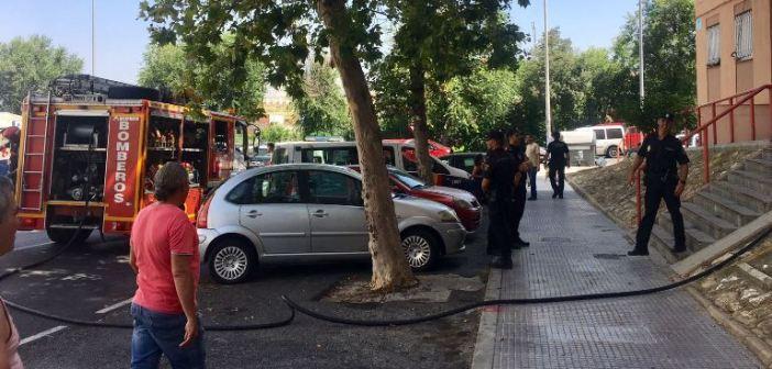 Incendio en calle Gonzalo de Berceo