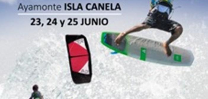 Kiteboarding en Isla Canela.