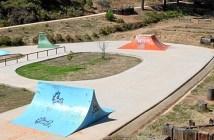 Skatepark del Parque Moret, que no cumple las normas de seguridad.