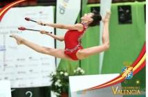 Ángela Martín, gimnasta del Rítmico Colombino.