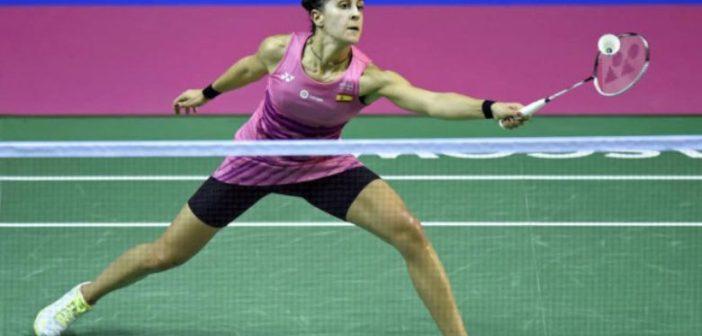 Carolina Marín, en el Mundial de bádminton.