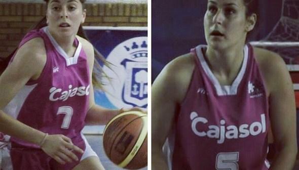 Diana Moreno y Marina Lineros, jugadoras del CB Conquero.