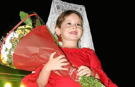 La reina Infantil de las Fiestas de San Francisco isla