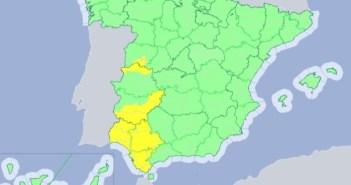 Alerta amarilla por lluvias en Huelva