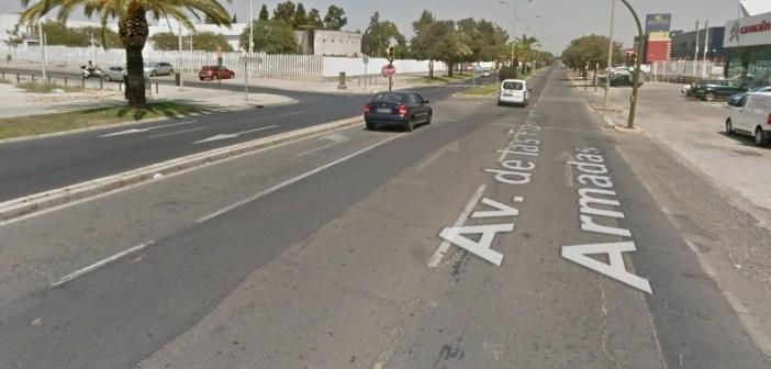 Avenida de las Fuerzas Armadas en Huelva