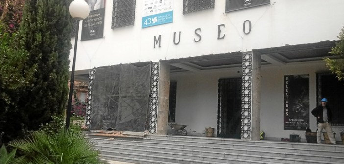 Obras en el museo de Huelva cerrado 28 noviembre 2017