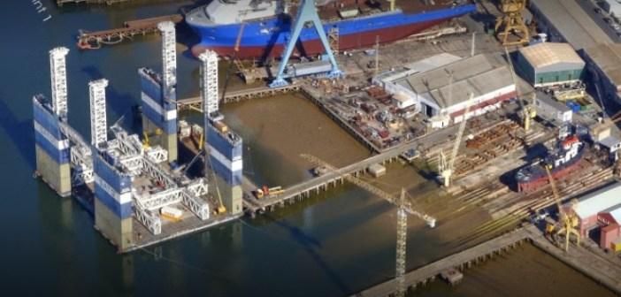 Imagen de archivo del astillero de Huelva.