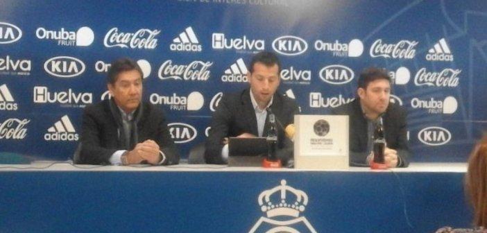 Despedida de Ángel López como técnico del Recreativo de Huelva.