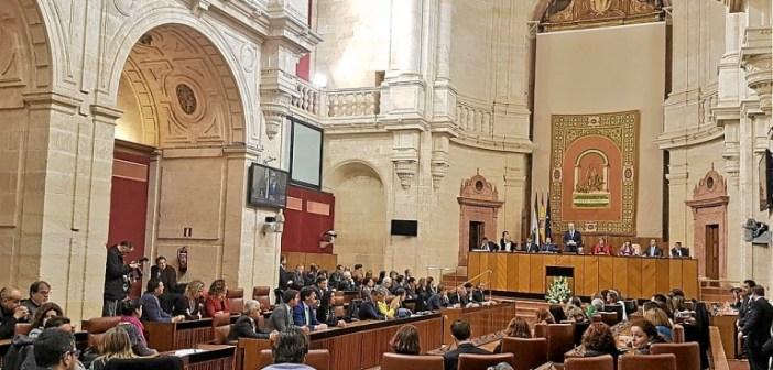 Pleno del Parlamento de Andalucía en el 28-F (3)