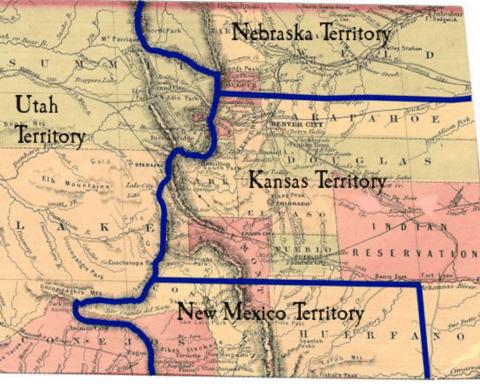 1633 HC Christofferson Southern Colorado as NEw MExico territory