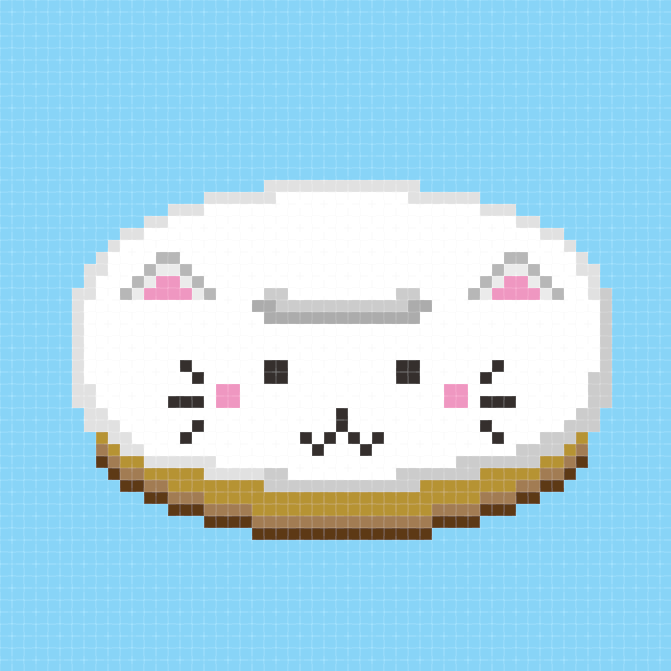 Cat Donut Cross Stitch Pattern from Hugs are Fun