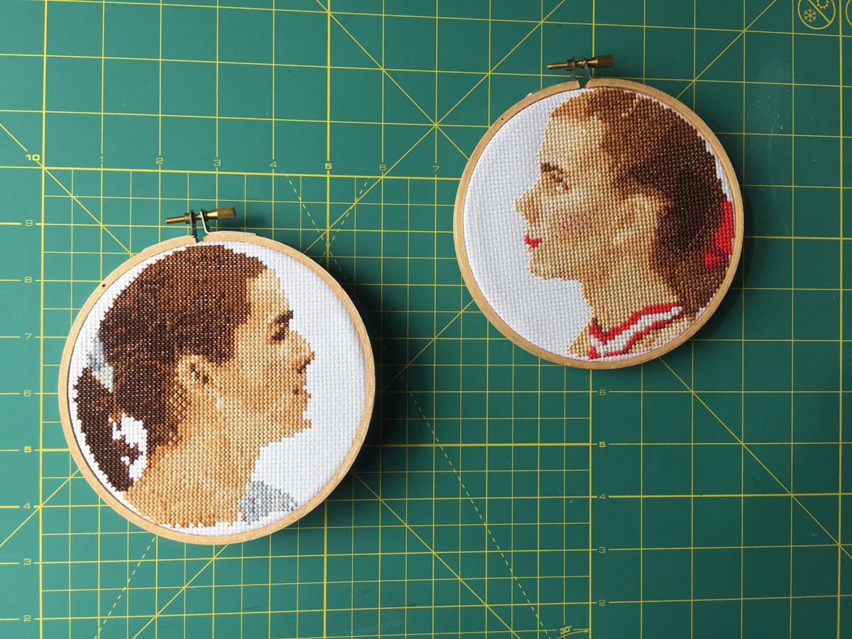 Free Pattern Friday - Tonya Harding and Nancy Kerrigan