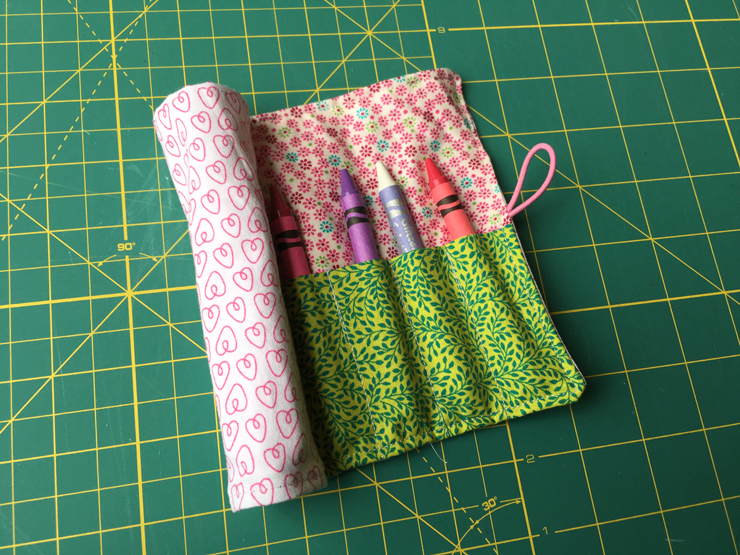 Simple Gift Idea - Mini Composition Books and Crayon Rolls from Hugs are Fun