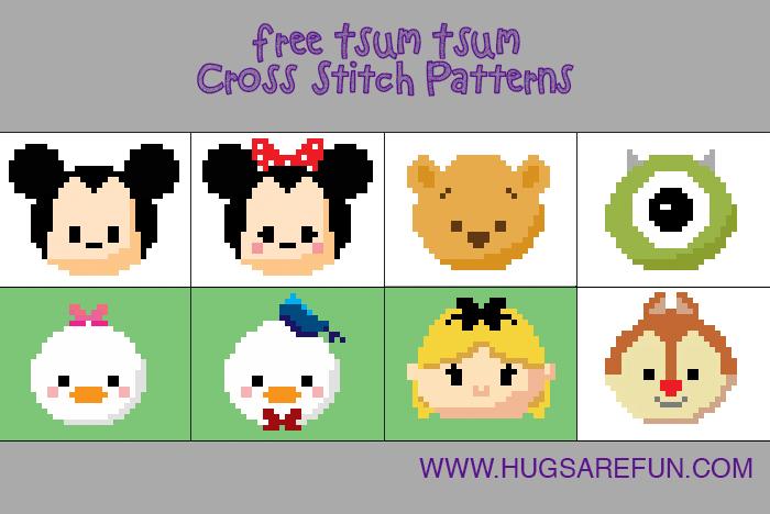Free Cross Stitch Patterns - Tsum Tsum from Hugs are Fun