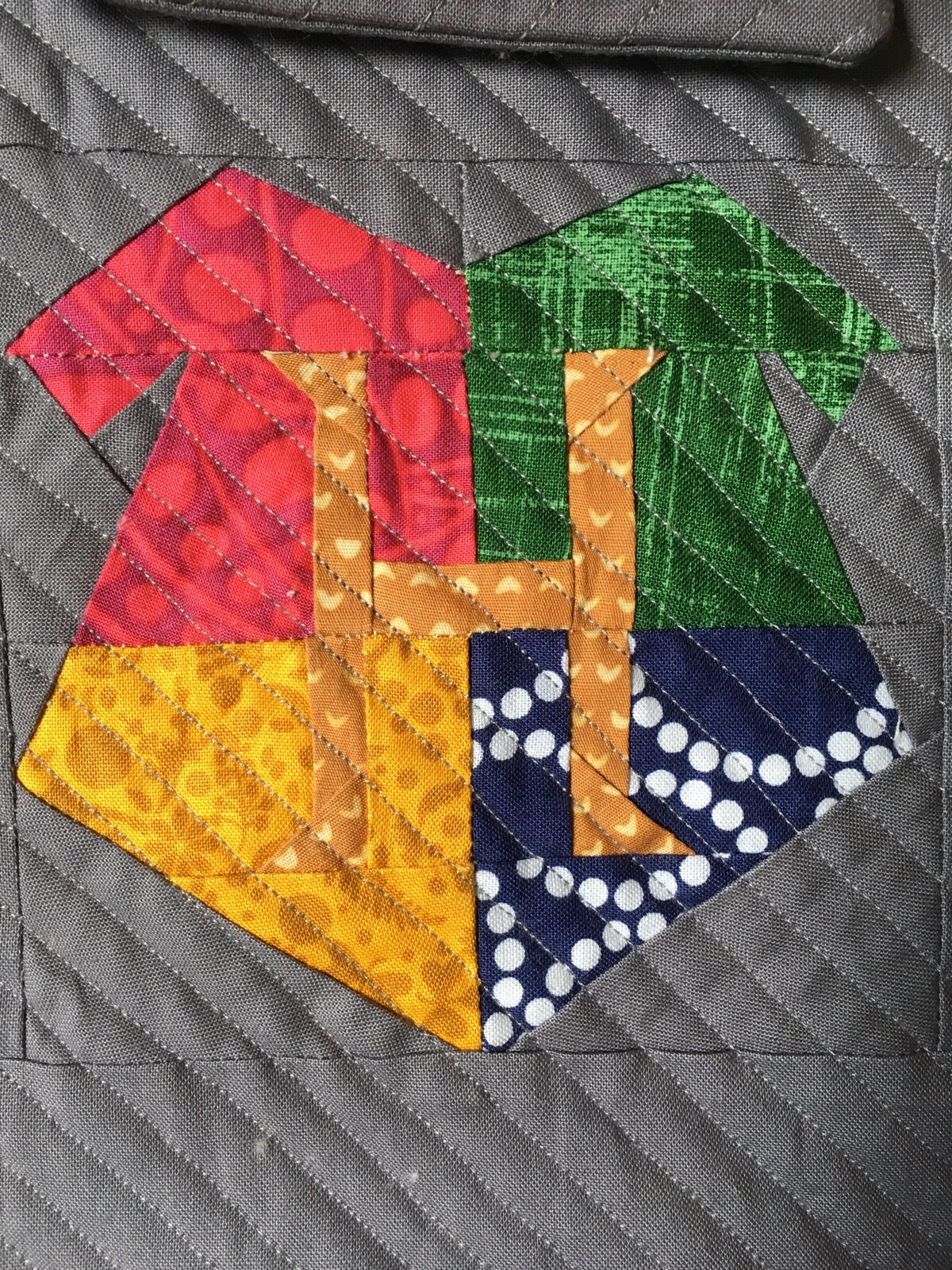 Quilted Hogwarts iPad Sleeve from Hugs are Fun