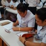 フィリピン人介護福祉士、看護士の日本語トレーニング風景4