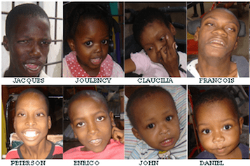 Trombinoscope d'enfants de l'orphelinat