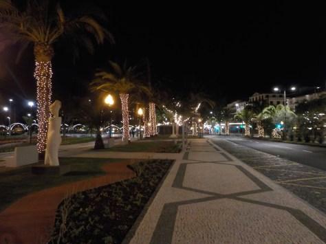 photo rue principale illuminée à Funchal