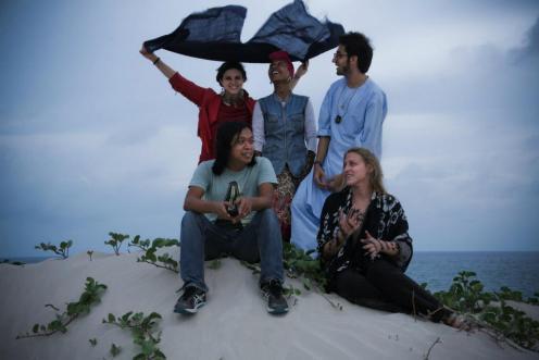 LFM 1.37- Ariana Delawari, Alsarha, Qais Essar, Jahm, and Robin Ryczek in Mog. Photo by Jake Simkin.