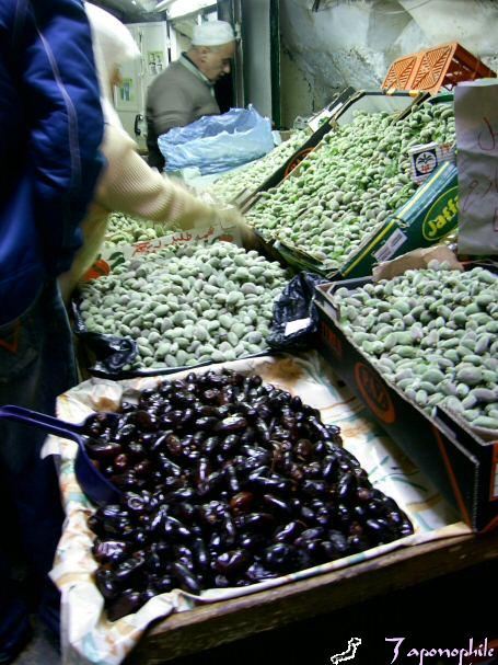 Fresh dates and green almonds.