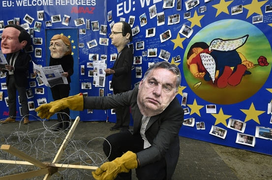 An Viktor Orbán figure from Brussels Photo: AFP / John Thys