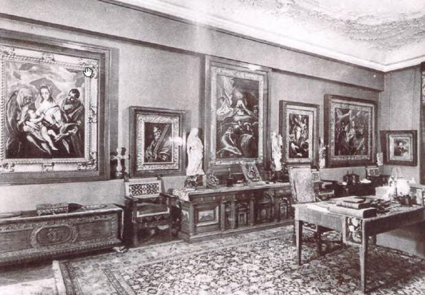 Baron Mór Lipót Herzog's study in the 1910s