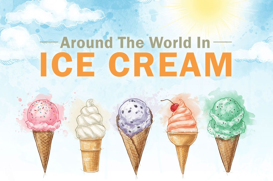 Shades of Ice-Cream Around The World