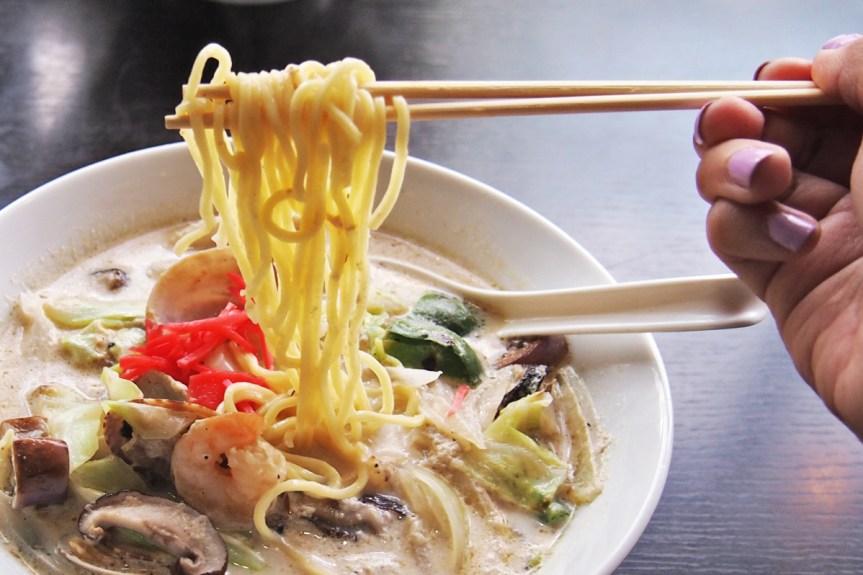 Chanpon ramen, noodle pull!