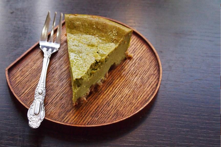 Matcha New York style cheesecake.