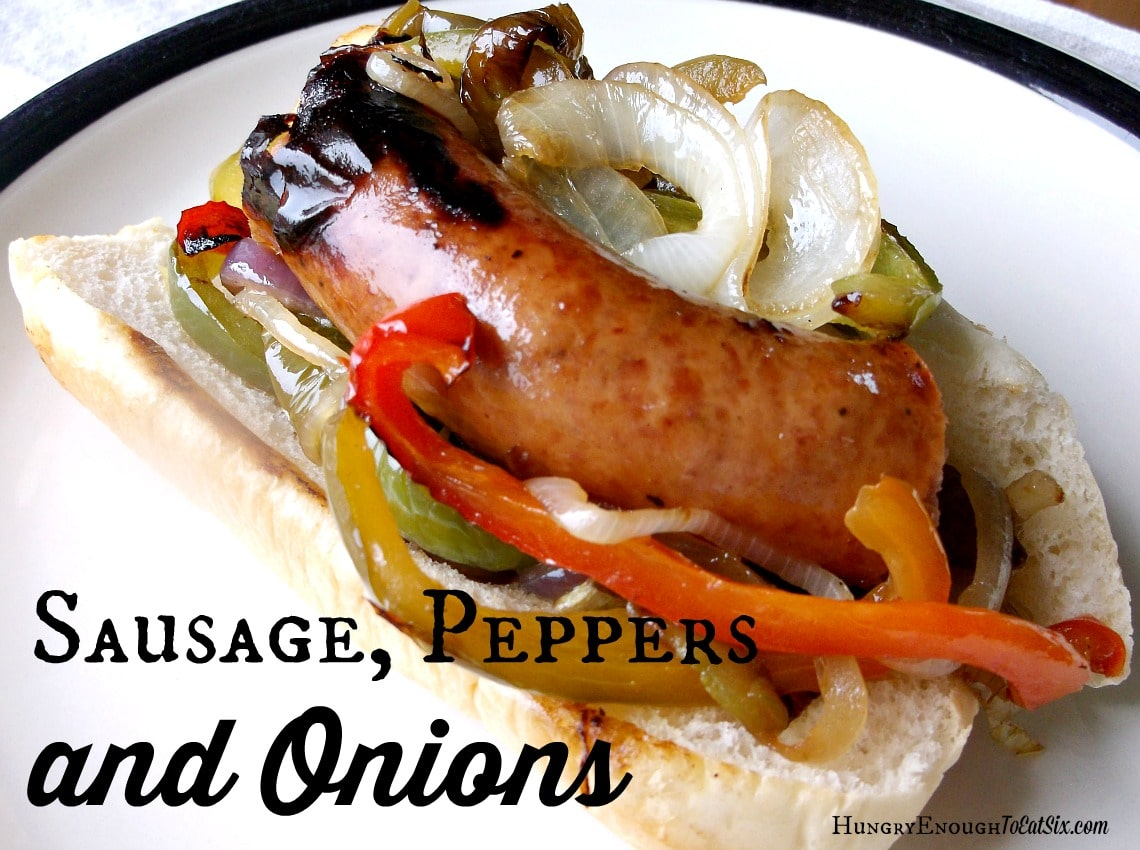 Not Going to the Fair: Sausage, Peppers and Onions at Home!