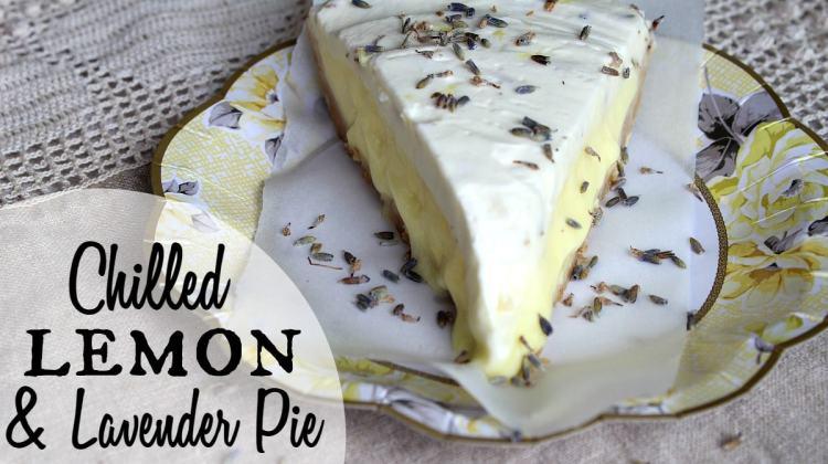 Chilled Lemon & Lavender Pie