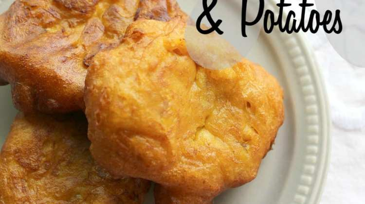 Pumpkin Fritters with Curry & Potato