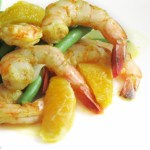 Curry-Orange Shrimp en Papillote