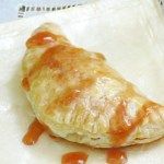 Cheese Pastry with Guava Cardamom Sauce