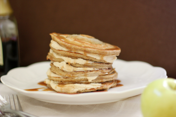 Apple Pie Pancakes with Caramel Mascarpone