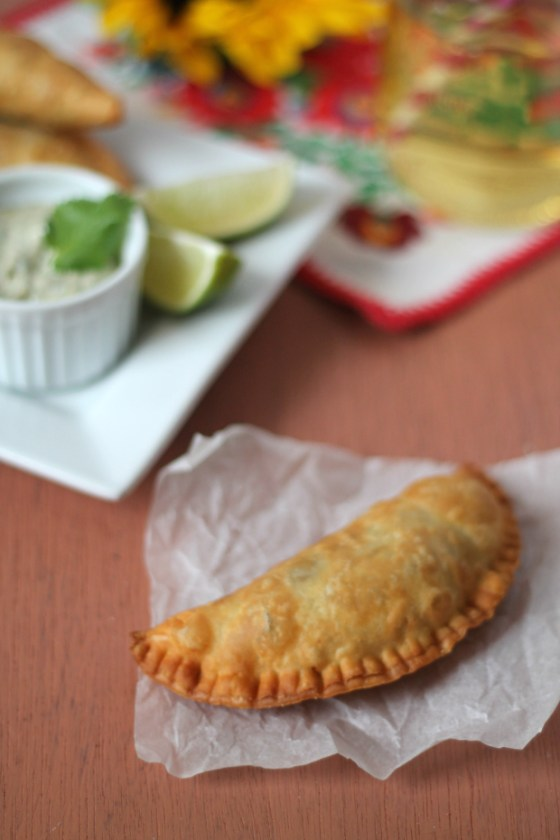 Pork Empadas - filled with leftover Pernil and Caramelized Onions