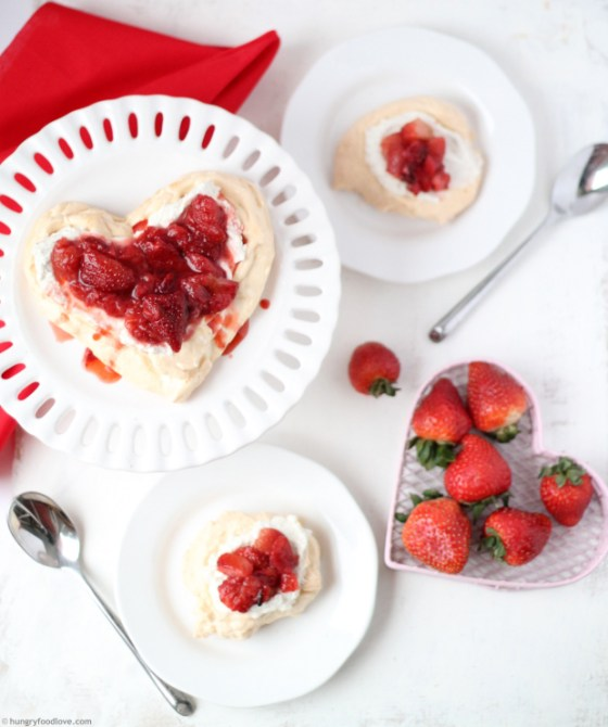 Roasted Strawberry Pavlova - Amazing!