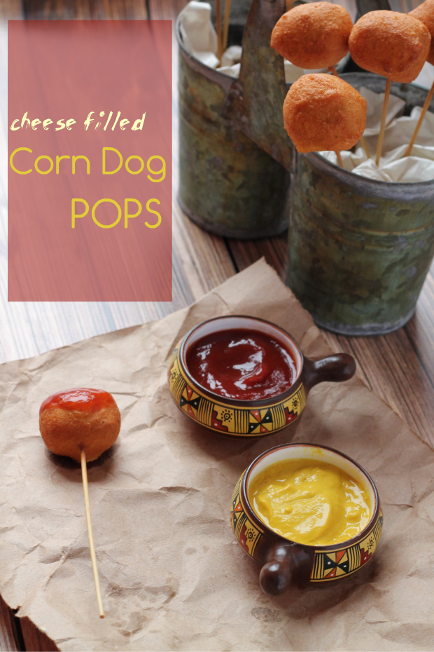 Cheese Filled Corn Dog Pops