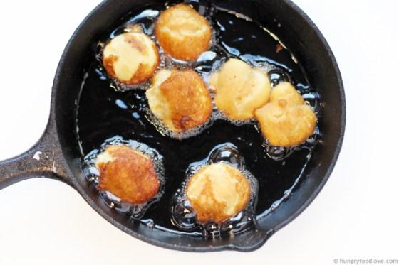 Coconut Buñuelos Puffs - Light, airy and super delicious
